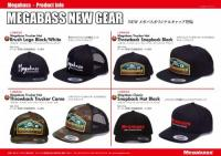 Megabass Trucker Hat Brush Logo Black/White